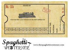 Free printable - customizable train invitation for birthday parties, baby showers, etc.