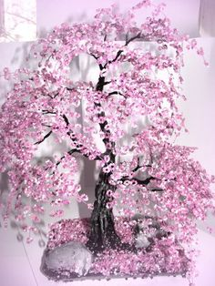 Beaded Tree Tutorials Cherry Blossom Tree