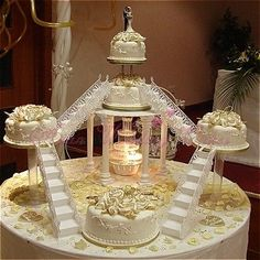 This is absolutely ultimate creativity and art with uniqueness. 😍😍 Asian Wedding Cakes :: Product - Royal Icing Cake with Stand # 14 Extravagant Wedding Cakes, Bling Wedding Cakes, Wedding Cake Fresh Flowers, Corsage Wedding, White Wedding Cakes, Elegant Wedding Cakes, Beautiful Wedding Cakes, Wedding Cake Designs, Fountain Wedding Cakes