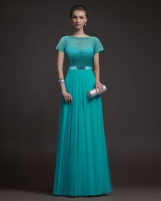 2016 New Arrival Brief Ball Gown Solid Short Sashes Floor-length O-neck Dresses Cute Party Dresses