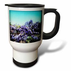 #coffee #mug #drivesafe #commuter #travel #cup #drink #gifts #art Amazon.com: DYLAN SEIBOLD - PHOTOGRAPHY - WISTERIA - 14oz Stainless Steel Travel Mug (tm_244497_1): Kitchen & Dining