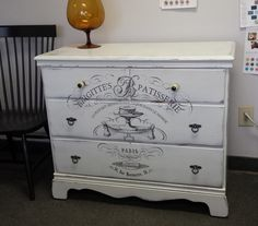 vintage painted dresser, french image, france, country, cottage, shabby chic