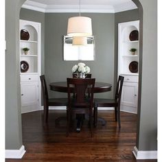 Benjamin Moore Antique Pewter, dining room color