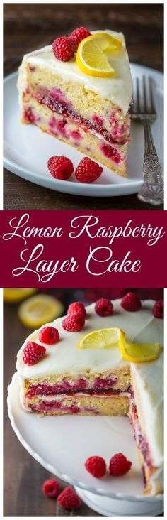If you like lemons and raspberries you're going to LOVE this Lemon Raspberry Cake! If you like lemons and raspberries you're going to LOVE this Lemon Raspberry Cake! Just Desserts, Delicious Desserts, Dessert Recipes, Yummy Food, Yummy Mummy, Yummy Appetizers, Lemon Cake Recipes, Healthy Cake Recipes, Unique Desserts