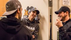 Letang, Fleury, and Crosby catch up in the Penguins locker room.