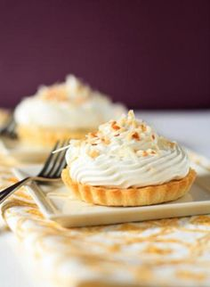 Everything is better when made in miniature and these coconut cream tarts are no exception.