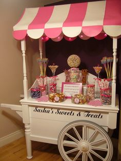 Pink Cart with sweetie tree