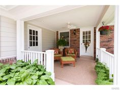 What a lovely porch! 1100 Westmoor Place, Saint Louis, MO.