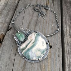 Handmade Sterling Silver Ocean Jasper Necklace By Wild Prairie Silver Jewelry