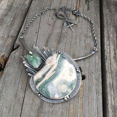 Handmade Sterling Silver Ocean Jasper Necklace By Wild Prairie Silver Jewelry