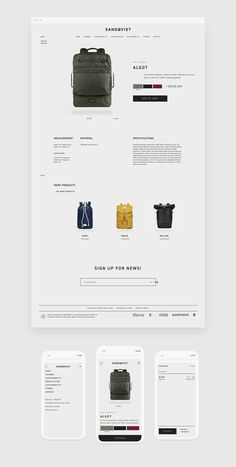Clean website design for eCommerce. Beautiful product layout too.: Clean website design for eCommerce. Beautiful product layout too. Website Design Inspiration, Website Design Layout, Design Blog, Web Design Company, Web Layout, Page Design, Layout Design, Ui Design, Simple Website Design