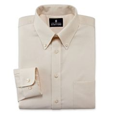 """<p>Our Stafford wrinkle-free oxford dress shirt is a perennial classic that matches equally well with denim to dress trousers.</p><div style=""""page-break-after: always;""""><span style=""""display: none;"""">"""