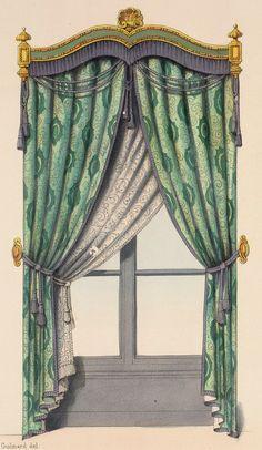 Decorative Accessories: Renaissance Revival window treatments