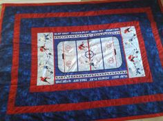 quilt baseball panel | Click to view this project in other colors ... : hockey quilt patterns - Adamdwight.com