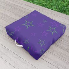 Purple Stars Outdoor Floor Cushion by scardesign Picnic Blanket, Outdoor Blanket, Outdoor Floor Cushions, Stars, Purple, Decoration, Outdoor Decor, Modern, Summer