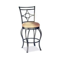 "30"" Memory Swivel Bar Stool with Low Round Seat by Chintaly Imports. $155.99. Memory Return. 30"" Seat Height. Glitter Brown Finish. Taupe Suede cushion. Swivels. 0706-BS Features: -Swivel memory return bar stool.-Semi KD (knocked down) base and bucket fully welded.-Simply screw base to bucket. Construction: -Metal construction. Assembly Instructions: -Assembly required. Dimensions: -Overall dimensions: 45'' H x 18'' W x 19'' D.-Seat height: 30''. Warranty: -Chintaly I..."