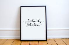 Absolutely Fabulous Graphic Art Print