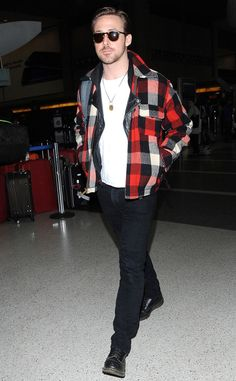 Ryan Gosling from The Big Picture  Winner, winner chicken dinner! The Golden Globe winner is spotted jetting out LAX airport.
