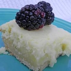 """CHEESECAKE LEMON BARS~ """"A light lemony cheesecake dessert that makes two layers, one lemony layer, and another cheesecake layer.."""
