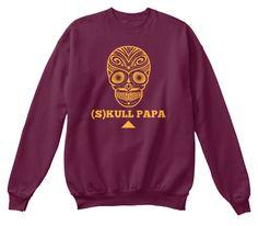 (S)Kull Papa Maroon  Sweatshirt Front