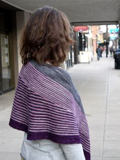 Color Affection shawl knit in Shalimar Yarns' Breathless. Pattern available on Ravelry.