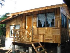 Beautiful Bamboo Home Design Great Bamboo House Amazing Bamboo Bamboo House Design, Small House Design, Bahay Kubo Design Philippines, Building A Small House, Bamboo Building, Rent To Own Homes, Bamboo Structure, Bamboo Architecture, Sustainable Architecture