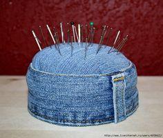 36 ideas para reciclar jeans o ropa vaquera - Diy Jeans, Sewing Jeans, Bag Sewing, Sewing Hacks, Sewing Crafts, Sewing Projects, Sewing Tips, Sewing Tutorials, Craft Projects