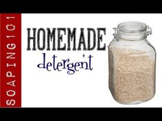 How to Make Homemade Laundry Soap & Detergent (+ stain sticks} These are very small batches. I use one very similar, powdered style. Have fun watching! Laundry Detergent Recipe, Homemade Laundry Detergent, Soap Making Recipes, Soap Recipes, Soap Supplies, Diy Lotion, Cleaners Homemade, How To Make Homemade, Home Made Soap