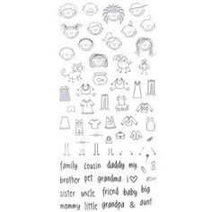 Stampabilities Clear Stamps - Stick Family