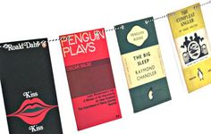 Book bunting ~ Penguin book covers garland ~ Book Club decoration on Etsy