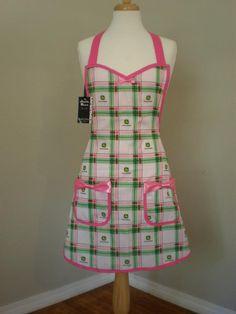 John Deere kitchen apron.