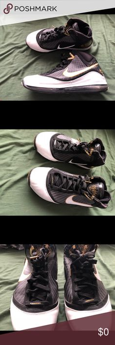 c2f163492476 LeBron 7 (black   gold) (rare) Fixed them up myself Size 13 but feels like  a 12 Nike Shoes Sneakers
