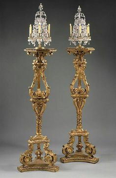 23 1700 French Candlestands at the Metropolitan Museum of Art, New York Chandeliers, Chandelier Lamp, French Furniture, Antique Furniture, Unpainted Furniture, Antique Desk, Furniture Design, Vasos Vintage, Decoration