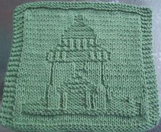 free lighthouse dishcloth patterns | DigKnitty Designs: Lighthouse Too Knit Dishcloth Pattern