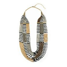 "Multi-strand Beaded 24"" Necklace  Noir Jewelry - Makah"
