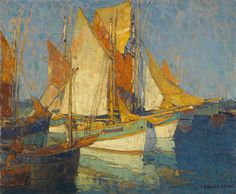 Edgar Payne, Sunlight on Brittany Boats