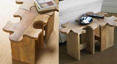Super leuk puzzelkrukje. Bijv. leuk voor een kinder(speel)kamer of zet er meerdere bij elkaar als tafeltje.