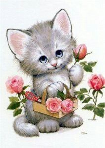 Kitten Images, Little Kitty, Embossed Cards, Artists Like, Cute Wallpapers, Cute Art, Kittens, Cute Animals, Teddy Bear