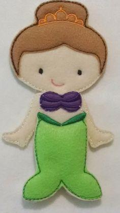 Ava Grace non paper doll plus Mermaid felt set