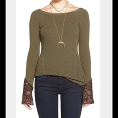 FREE PEOPLE BALI BABE CUFF FREE PEOPLE BALI BABE CUFF THERMAL IN SAFARI GREEN. SCOOP BACK. HOOK AND EYE CLOSURE AT EMBROIDERED WRISTS. CURVED HEM. Free People Tops