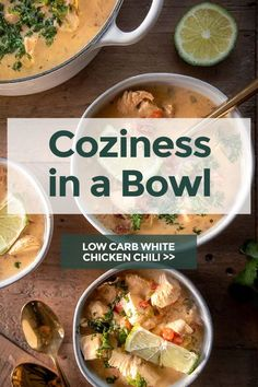 Low carb white chicken chili is a spin on a family fave, with a creamy, tangy, citrusy zip of flavor that's just as hearty and heartwarming. #lowcarbwhitechickenchili #whitechickenchili #chili #ketochili #lowcarbchili #lowcarbdinners #ketodinners #keto #lowcarb
