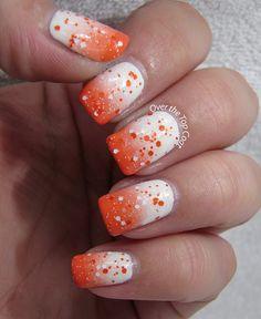 Bright orange nails, orange glitter, coral nails, country prom, chicago b. Bright Orange Nails, Coral Nails, Orange Glitter, Fabulous Nails, Perfect Nails, Chicago Bears Nails, Hair And Nails, My Nails, Football Nails