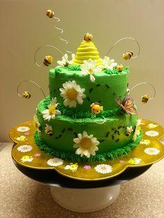 Bee theme birthday cake. #Rylee'scake