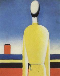 El presentimiento complejo: medio cuerpo en una camisa amarilla, 1928-1932 - Kazimir Malevich