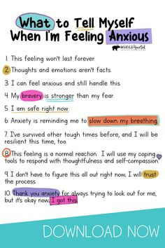 Anxiety Coping Skills, Anxiety Tips, Anxiety Help, Social Anxiety, Things To Help Anxiety, Anxiety Activities, Mental And Emotional Health, Inspiration Quotes, Social Skills