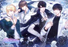 MLQC KR Version Anniversary Commemorative Illustrations A collaboration with the illustrator AKGI to celebrate Love and Producer KR's first anniversary. ✩‧₊˚ source: bit. Cool Anime Guys, Handsome Anime Guys, Cute Anime Boy, Anime Love, English Characters, Anime Friendship, Cute Couple Art, Anime Couples Manga, 1st Anniversary