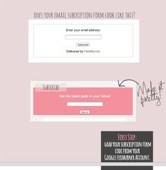 blogger tutorial: ow to customize your email subscription form
