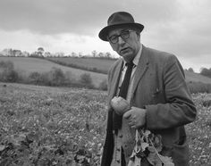 Patrick Kavanagh - famed poet from Monaghan and author of one of the most famous songs in Irish folk music. See: On Raglan Road/A Christmas Childhood