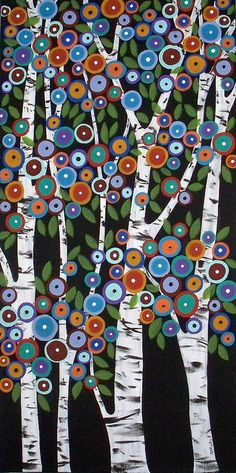 Birch trees by Karla Gerard