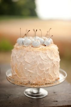 Peach and cherry cake inspiration by Tali Photography